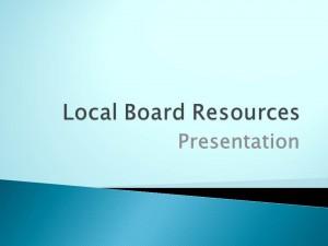 Local Board Resources file